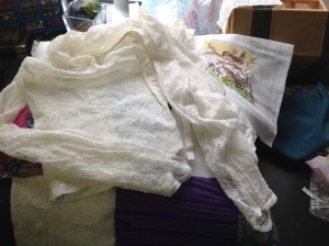 Bruidsjurk verwerkt in kussens